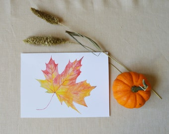 Fall Leaf Thank You Card