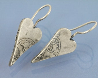 Heart with lace 925 Silver Earring
