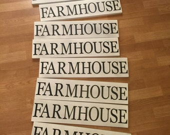 Farmhouse sign wood rustic chic farm style