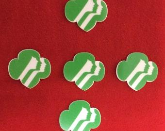Set of 5 Girl Scout Logo Resin