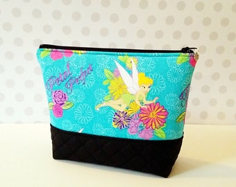 Tinkerbell Large Makeup Pouch / Flower