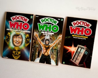 DOCTOR WHO 3 x Target Adventure Novels 1970s 1st, 3rd & 4th Doctors