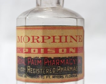 Vintage Apothecary Bottle - Morphine