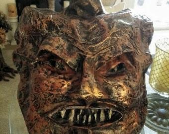 Werewolf Sculpted Mache Pumpkin