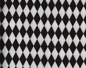 "Valance Black and White Harlequin Diamond Italian Fat Chef Modern Custom Made 42"" W X 15"" :L"