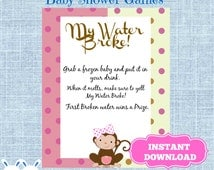 baby game monkey baby shower ice cube baby shower drink shower drink