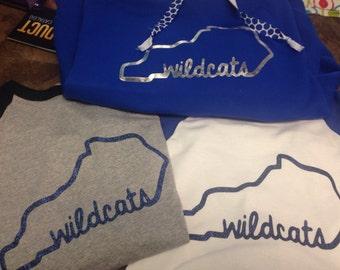 Glitter vinyl wildcat t shirt