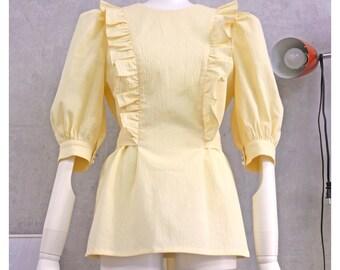 Size S Ruffle Blouse Women's PDF Sewing Pattern