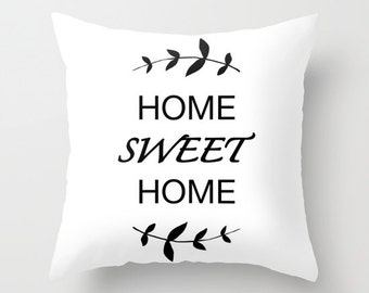 Welcome Home Throw Pillow : Items similar to Welcome Home 18 x 18 Pillow Decorative Throw Pillow Home Decor Typography Text ...