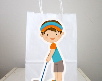 Golfing Goody Bags, Golfing Party Favor Bags, Golfing Gift Bags, Golf Goodie Bags, Golf Goody Bags