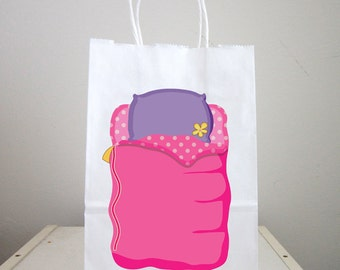 Sleepover Goody Bags, Slumber Party Goody Bags, Sleepover Favor Bags, Slumber Party Favor Bags (12317151A)