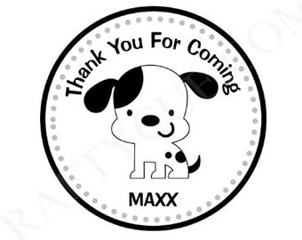 Puppy Dog Goody Bag Tags, Dog Goody Bag Tags, Dog Favor Bag Tags, Dalmatian Goody Bag Tags