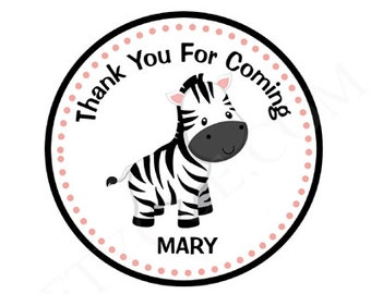 Zebra Goody Bag Tags, Zebra Favor Tags, Zebra Gift Tags, Jungle Goody Bag Tags