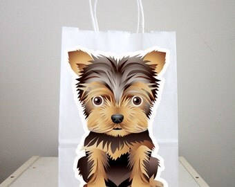 Puppy Goody Bags, Dog Goody Bags, Puppy Favor Bags, Dog Favor Bags - Terrier Goody Bags