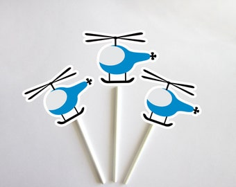 Helicopter Cupcake Toppers