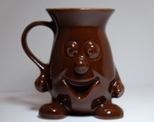 English Collectible Cadbury's Smiling Cocoa Bean Chocolate Mug, Cadbury Chocolate Mug