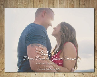 Save The Date, Romantic Save the Date Announcement, Wedding Date, Classical Wedding