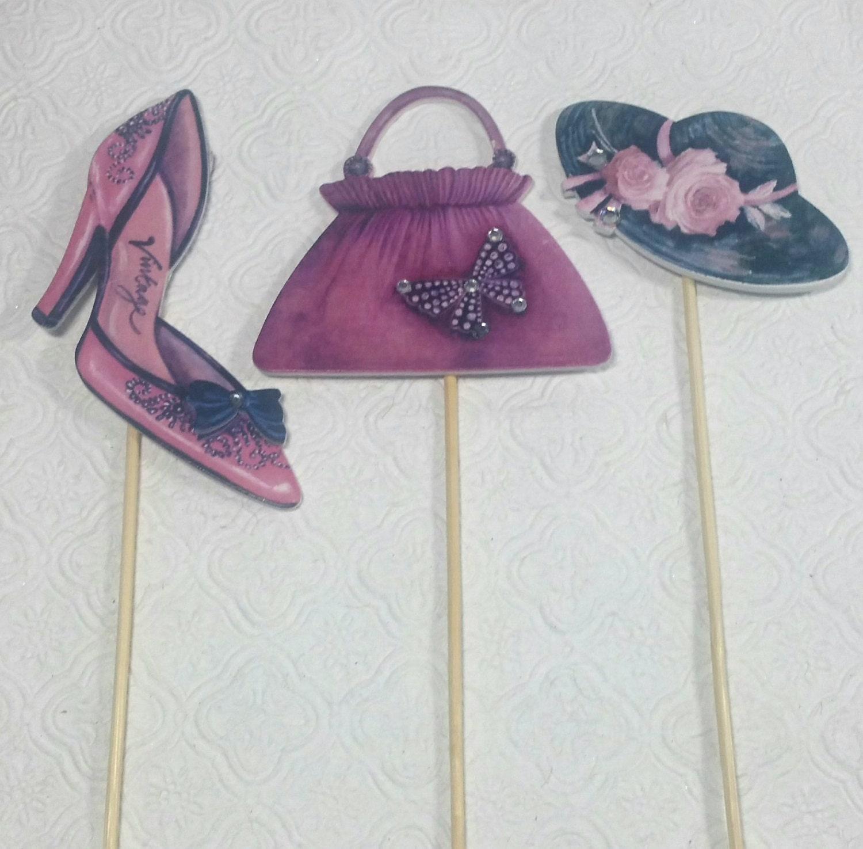 Shoe And Handbag Cake Decorations