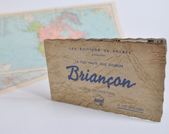 Block of vintage postcards of Briançon-France