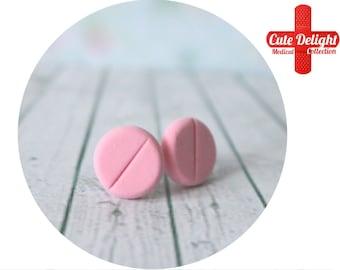 Pink Pills Earrings, Pill Earrings, Custom pills earrings, pink pills accessories, cute pills earrings, pills jewelry, pill jewelry, pills