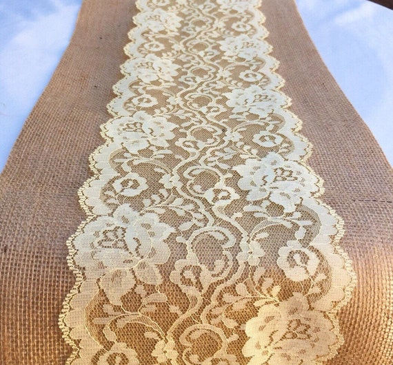Lace table runner soft yellow 3ft 10ft long x 6 in wide no for 10 foot table runner