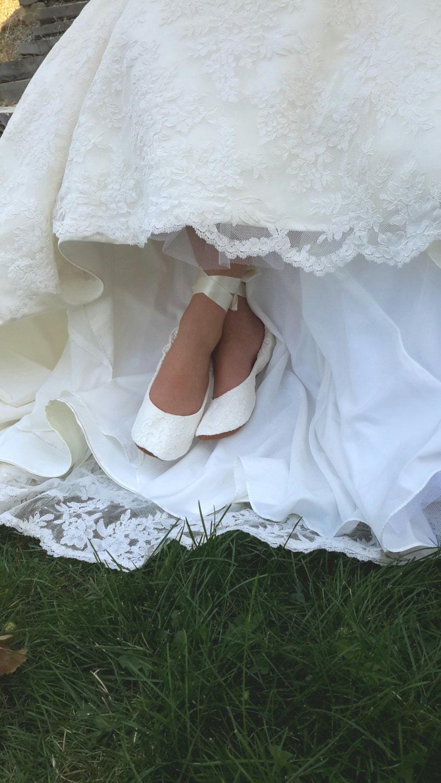 Flat Lace Ballet Style Wedding Shoe Lace Ballet Style Bridal