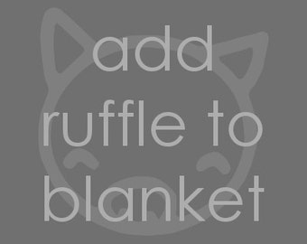 Add Ruffle to Blanket