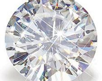 Forever One Round Cut| Loose Moissanite| Diamond Alternative| Jewelers Supplies| Ethical| Conflict Free