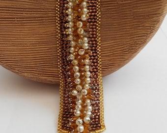 Copper and Gold Bracelet