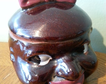 Black Americana, Vintage Mammy Sugar Bowl,