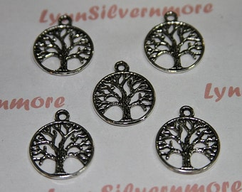 18 pcs - 20 mm Tree of Life Charm Antique Silver Lead  Free Pewter