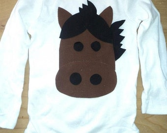 ON SALE Horse Shirt or Baby Bodysuit