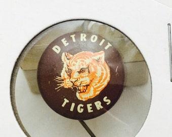 "1950s Vintage Detroit Tigers Michigan Baseball 7/8"" Pin Pinback"