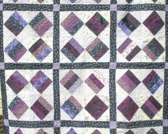 Purple Triple Strip Quilt