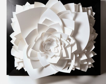 Lotus Wall Hanging Paper Sculpture - wall decor