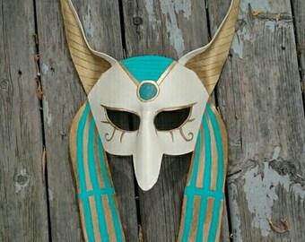Leather Anubis Mask Egyptian Mask Custom Colors Halloween Mask