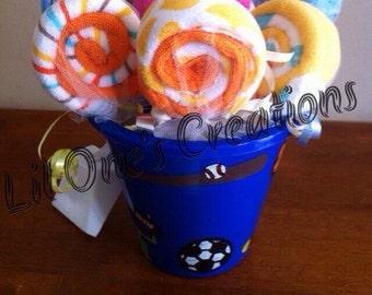 Large Wash Cloth Lollipop