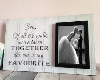 Custom Wedding Frame - Thank You Wedding Gift - Son Wedding Gift - Gift For Son - Personalized Frame - Of All The Walks