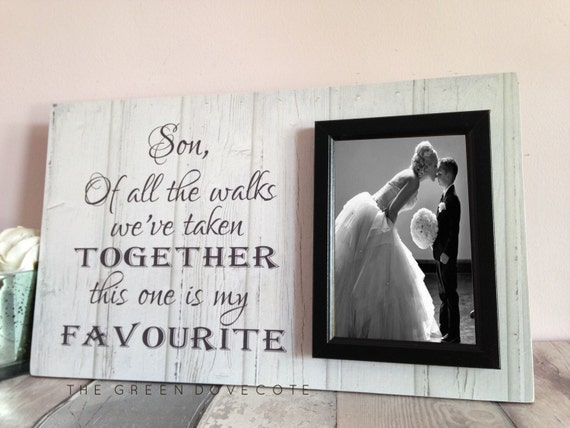 Personalized Wedding Photo Frames Uk : Custom Wedding Frame - Thank You Wedding Gift - Son Wedding Gift ...