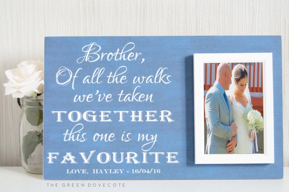 Unique Wedding Gift For Brother : Brother Of The Bride Gift - Personalized Wedding Gift For Brother ...