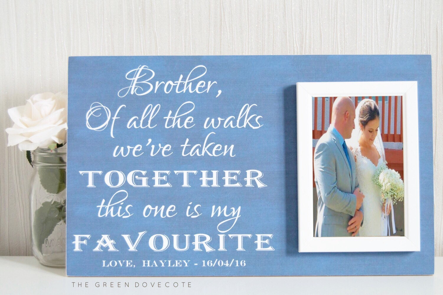 Special Wedding Gift For Brother : Brother Of The Bride Gift Personalized Wedding Gift For