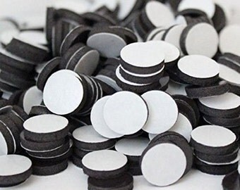 Adhesive Round 1 Inch Magnets - Adhesive back magnets.  DIY Crafts Buttons Magnetic Coins. FREE SHIPPING