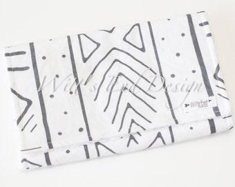 Modern Gender Neutral Burp Cloth MIX & MATCH-Super Absorbent Cotton Chenille-Mudcloth