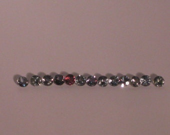 Sapphire, 3.75 mm Sparkling Natural colour shift sapphires Round Loose Gemstones, 1 only September Birthstone