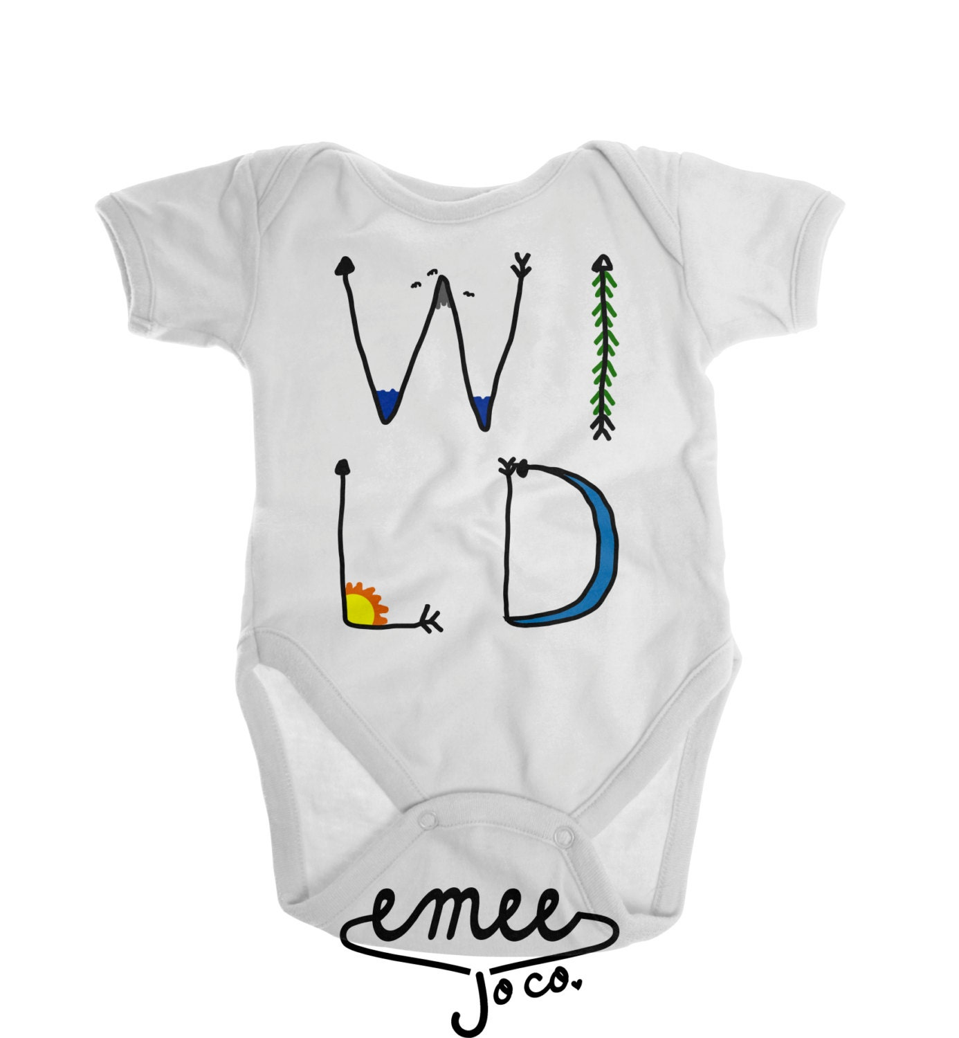 Bohemian Baby Clothes Wild Shirt Gender Neutral Baby by