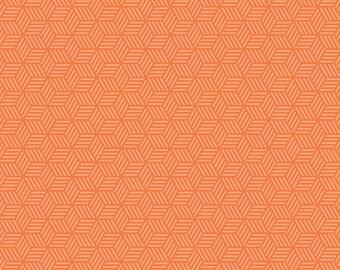 Play Ball 2 Geometric Orange, from Riley Blake Designs