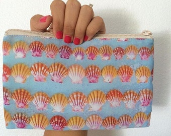 "5""x8"" Sunrise Shell Printed Coin Purse Double-Sided"