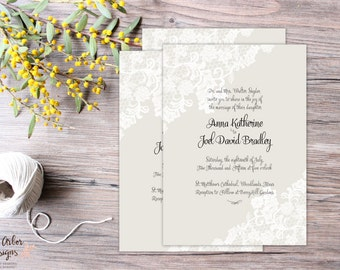 Watercolor Floral Wedding Programs DIY by JuneArborDesigns