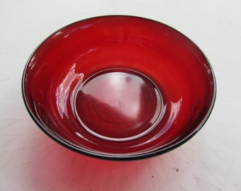 Vintage French Red Bowl