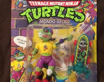 Teenage Mutant Ninja Turtles TMNT Mondo Gecko 1990 Playmates Action Figure MOC NIP 90s Rare New